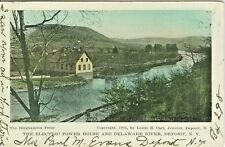 Deposit NY The Electric Power House and Delaware River 1907