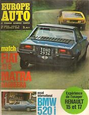 EUROPE AUTO 1973 77 24H MANS BMW 520i E12 R15 R17 TL TS FIAT X1/9 MATRA BAGHEERA