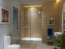 "ART OF BATH 57-60"" x 79"" FRAMELESS  SLIDING SHOWER DOOR, 3/8"" GLASS/CHROME"
