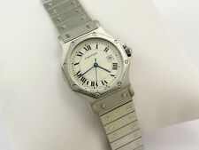 CARTIER SANTOS OCTAGON STEEL AUTOMATIC MID SIZE WATCH