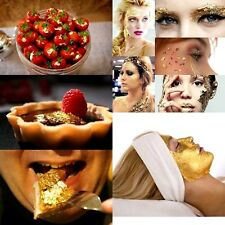 20sheet 24k100%pure gold leaf MakeUp Face mask Anti-aging spa DECORATE CAKE FOOD