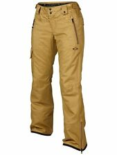 NWT OAKLEY Village Pant BOARD SKI Antique Bronze WOMENS L Thinsulate 521439 $250