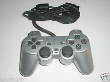 Original Sony Playstation 2 Controller Silber - PS2 Gamepad Dualschock 2