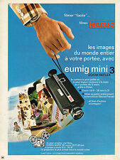 PUBLICITE ADVERTISING 024   1972   EUMIG  MINI    caméra