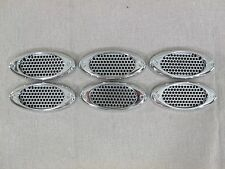 PORT HOLE MESH OVAL FENDER GILL1PAIR/ 6 PIECES SPORT LOOK AERODYNAMIC VENTS
