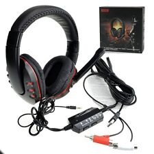 New Gaming Headset Headphone w/Mic For Xbox 360 Wired Controller Black&Red
