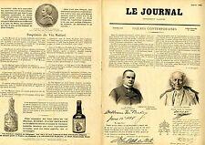 """""""LE JOURNAL Supplément illustré 1899"""": Portraits et Autographes Album MARIANI"""