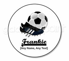 Personalised Gift Football Coaster Boots Sport Referee Training Coach - Round