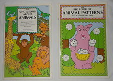 "Big Book (17""x11"") Set of 2 - Animal Patterns & Animal Songs PreK-2nd (1994, PB)"