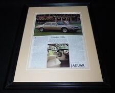 1987 Jaguar Vanden Plas Framed 11x14 ORIGINAL Vintage Advertisement