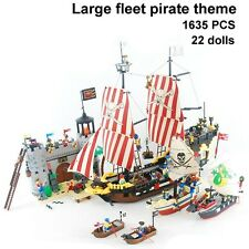 New 4 set ENLIGHTEN Building Block Fleet Caribbean Pirate Ship Toy 22 dolls