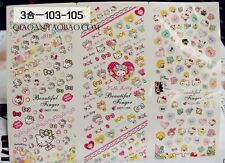 Nail Art Water Decal Sticker Hello Kitty Heart Bow HOT103-105