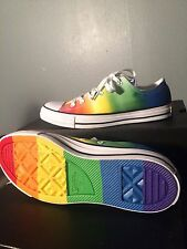 Converse Chuck Taylor ALL STAR Lo Pride Rainbow Shoes LGBT Men's 8 Women's 10