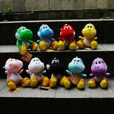 "9Pcs/Set Super Mario Cute Soft Plush Doll Toy Colorful Yoshi 18CM 7"" Gifts"