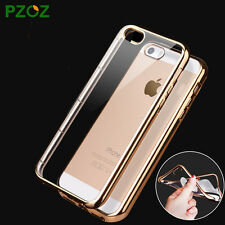 Gold Plating Electroplated TPU Back Cover Case For Apple iPhone 5 / 5S