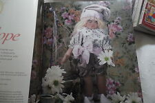 beautiful soft sculptured doll craft sewing pattern 12in - 30cm tall