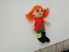 RARE RED HEADED GIRL FRECKLED PIPPI LONGSTOCKING PLUSH DOLL FIGURE NOVELTY TOY