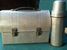Vintage Aluminum Dome Top Lunch Box with Landers, Frary, & Clark Thermos