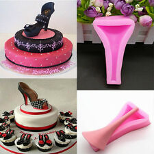 Fashion Silicone Stilletto High Heel Lady Shoe Fondant Cake Decorating Mold Tool