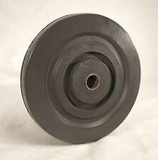 """5 x 1 Hard Black Rubber wheel, 1/2 ID x 1.125"""" Symm Hub"""