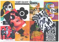 10 POSTCARDS. MOD, TWIGGY,BIBA, MARY QUANT,  RETRO,  SWINGING 60's.