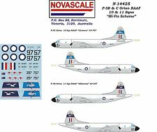 "RAAF P-3B&C Orion ""Hi-Vis"" Decals 1/144 Scale N14425"