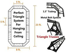 Black Triangle Truss 23ftX8ft Hang From Ceilings Trade Shows Display Metal Bolts
