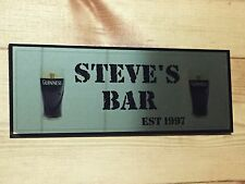 PERSONALISED BAR ANY NAME GUINNESS GARDEN PARTY PUB HOME BAR DAD BIRTHDAY SHED
