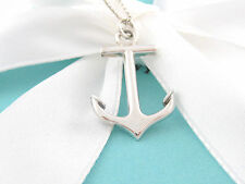 Tiffany & Co Silver Anchor Necklace Box Pouch Card Child