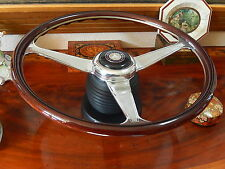 Mercedes W140 126 560 SEC Nardi Dark Wood Steering Wheel GERMAN DOT SPEC NOS HUB