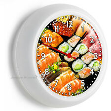 SUSHI ROLL TUNA FISH SASHIMI SALMON JAPANESE RESTAURANT WALL CLOCK BAR ART DECOR