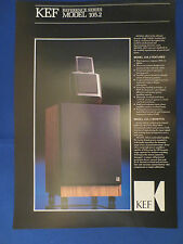 KEF REFERENCE 105.2 SPEAKER SALES BROCHURE ORIGINAL VERY GOOD COND FREE SHIP
