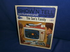 Vintage GE Show'N Tell The Sun's Family Picturesound Program 1964