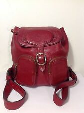 AUTHENTIC BURBERRY WINE RED  LEATHER BACKPACK