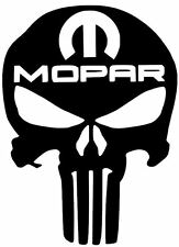 2X (PAIR) Car PUNISHER Vinyl Decal Sticker MOPAR DODGE JEEP RAM ( 10 COLORS )