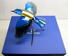 $950 Swarovski Color Crystal Bird Figurine ROLLER Blue Turquoise #957568