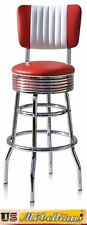 BS-29-CB Red Bel Air Barhocker Diner Theke Bar Stuhl Fifties Amerika Style USA