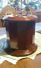 VINTAGE WOODEN HUMIDOR - Wood BOX - CANISTER - TEA CADDIE - URN - Metal lined