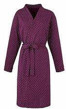Size 20/22 Pretty Secrets 100% Cotton Purple Polka Dot Wrap Around Belted Gown
