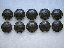 1955's China PLA Army,Navy,Air Force General Bakelite Buttons,10 Pcs,26mm