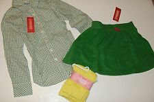 Gymboree Merry and Bright Girls Size 7 Button Top Shirt Leggings Skirt  NWT NEW