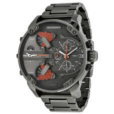 Diesel The Daddies Chronograph Four Time Zone Dial Gunmetal Ion-plated Mens