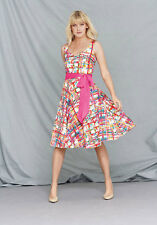 South Printed Sateen Prom Dress In Print Size  12