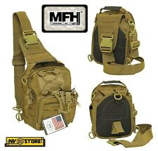 ZAINO TATTICO MONOSPALLA INCURSORE MFH CY TAN BACKPACK SOFTAIR SURVIVOR CAMPING