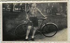 PHOTO ANCIENNE - VINTAGE SNAPSHOT - SCOUT SCOUTISME VÉLO BICYCLETTE - BIKE