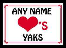 Love Heart Yaks Personalised Placemat