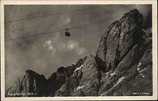 Zugspitzbahn Bayern s/w AK ~1920/30 Seilbahn Gondel Berge Deutsche Heimatbilder