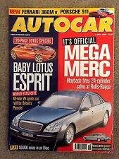 AUTOCAR MAGAZINE 05-MAY-99 - Peugeot 206 GTi, Porsche 911 Carrera 4, Ferrari 360