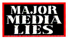 Major Media Lies - Small Media Reform Bumper Sticker / Decal