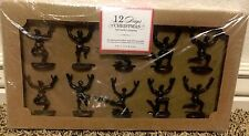 Pottery Barn Ten Lords a Leaping placecard holders 12 days of Christmas NEW